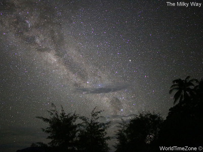 The Milky Way - Night Sky Before Total Solar Eclipse in Pulau Plun Halmahera Moluccas Indonesia on March 9 2016