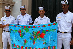 Sailors with World Time Zone travel towel worldtimezone