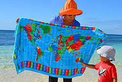 World Time Zone travel towel canga worldtimezone